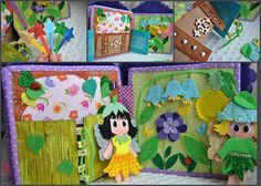 quiet book Dollhouse Fairy Doll of felt Busy book Education