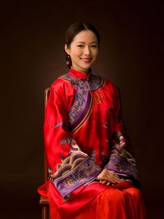 The Traditional Chinese Wedding Bridal Costume - Qun Gua, Phoenix Coronet, Red Shoes