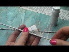 Jak na ruličky z papíru - pletení z papíru (roll of paper) - YouTube