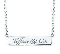 bca1a8098 I can dream - Tiffany Love Notes silver bar necklace Silver Bar Necklace,  Tiffany Necklace