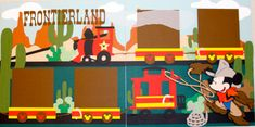 Disneyland Frontierland Premade 12x12 Layout by StinknCuteCrafts, $24.99(Etsy) What a great find!