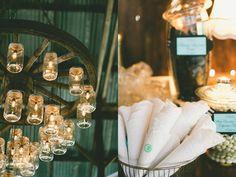 mason jar chandelier for wedding