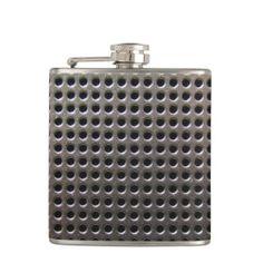 Metallic Steel Grid Pattern ~ flask