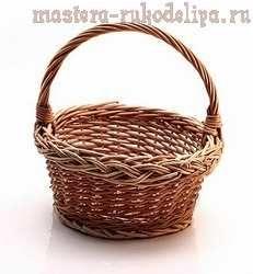 Мастер-класс по плетению из лозы: Корзина