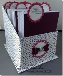 Card Organiser also holds stampin up embossing folders