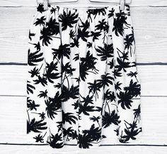 Jupe aux palmiers, jupe blanche aux arbres exotique, jupe imprimee,jupe en coton, : Jupe par atelier-mademoiselle-k