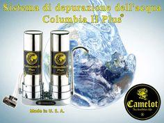 Sistema di depurazione dell'acqua Columbia II Plus. Filtri a carbone attivo e ceramica.