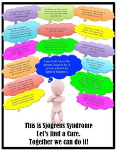 What it can be like to live with #Sjogren's Syndrome or other #Autoimmune #diseases that are unseen, but ever present.