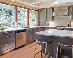 Mercer Island II - modern - Kitchen - Other Metro - Urbanata Weathered Oak, Modern, Table, Furniture, Kitchens, Home Decor, Island, Trendy Tree, Decoration Home