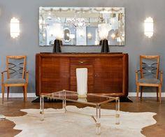1stdibs.com | Pierre Vandel Lucite Coffee Table