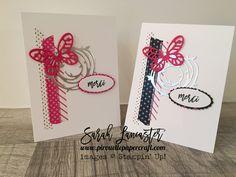 September customer thank you cards   Sarah Lancaster - pirouette paper craft #stampinup
