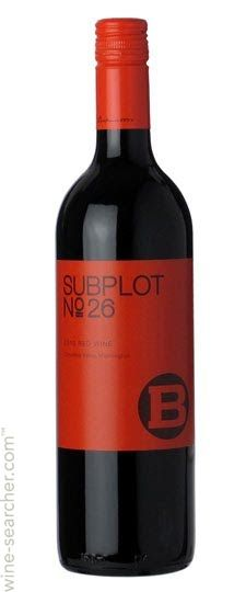 J Bookwalter Winery Subplot No 26 Red, Columbia Valley, USA Best wine I've ever had