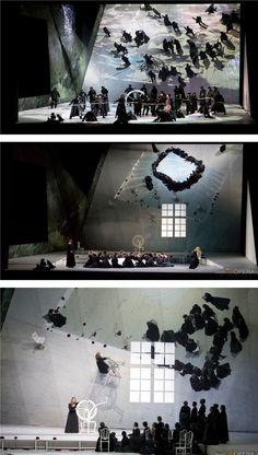 Αποτέλεσμα εικόνας για theatre set design drawings prison flying clothes