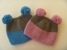 Hand knit set twins beanie hat teddy bear beanie for by PlexisArt