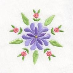 click to enlarge Flower Embroidery Designs, Free Machine Embroidery Designs, Custom Embroidery, Embroidery Thread, Floral Embroidery, Flower Patterns, Embroidery Patterns, Small Flower Design, Small Flowers
