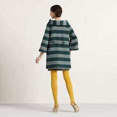 If I had skinny long legs I would wear yellow tights every day! That coat is perfect!