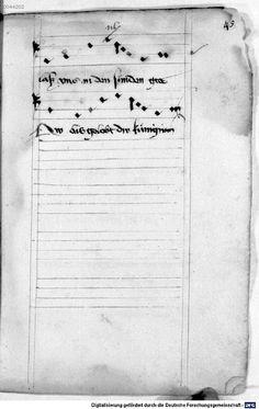Mönch von Salzburg. Oswald von Wolkenstein: Geistliche Lieder mit Melodien Bayern/Österreich, erste Hälfte 15. Jh.: 3. Viertel 15. Jh. Cgm 715 Folio 99