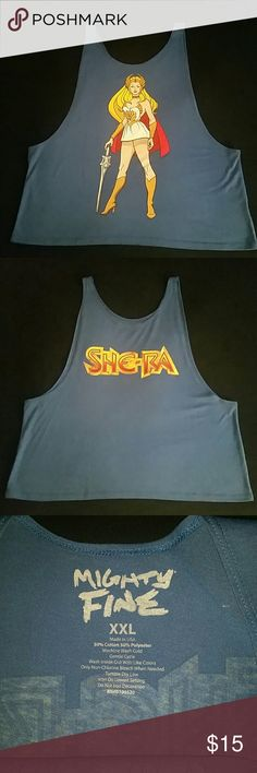 80s Nostalgia - She-Ra T-shirt Blue She-Ra Princess of Power tank top. Bought it online. NWOT (there weren't any tags). Size says 2x but it runs small. That's why I listed it as 1x. Never been worn. Mighty Fine Tops Tank Tops
