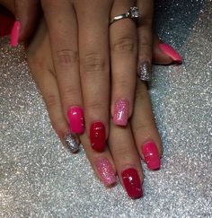 Ongle rose aux gel