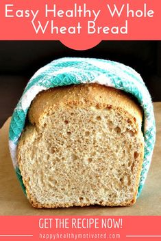 This healthy whole wheat bread recipe doesn't use a bread machine and it's super easy to make. It tastes so good you'll never need another recipe for healthy homemade bread ever again! #Food #Foodie #Foodgasm #FoodMatters #Recipe #RecipeOfTheDay #Healthy #HealthyRecipes #HealthyFood #HealthyEating #HealthySnacks #CleanEating #Homemade #Bread #BreadBakers Healthy Breakfast Recipes, Snack Recipes, Cooking Recipes, Vegetarian Recipes, Dinner Recipes, Muffin Recipes, Healthy Recipes, Bagels, Tortillas