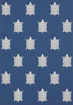 Turtle Bay wallpaper in blue / Biscayne collection from Thibaut - OH MY GOD I need this on my house so bad!!!!