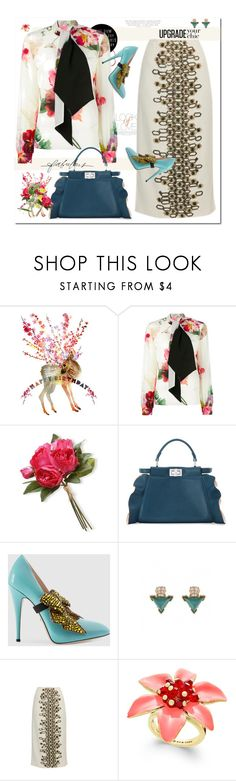 """""""Upgrade Your Chic"""" by nantucketteabook ❤ liked on Polyvore featuring Vince, Lanvin, National Tree Company, Fendi, Gucci, Samantha Sung, Wes Gordon, Kate Spade, Stella & Dot and Spring"""