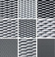 Expanded and perforated mesh cladding panels are extremely versatile and ideal for creating a contemporary facade, offering an instant transformation on… Metal Mesh Screen, Metal Facade, Cladding Panels, Cladding Systems, Perforated Metal Panel, Expanded Metal Mesh, Showroom Interior Design, Balcony Railing Design, Steel Panels