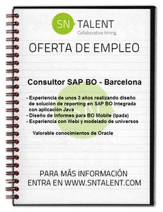 #Empleo Consultor #SAP BO en #Barcelona