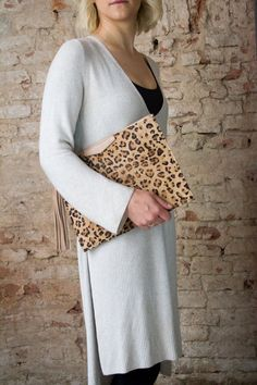 Oversized clutch Luxury iPad sleeve leather iPad case by Percibal