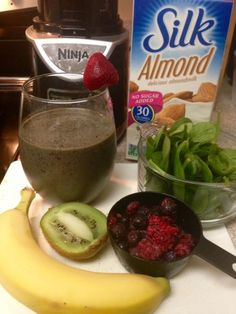 Gang Green Immune boosting smoothie #green #smoothie #healthy #immune #boosting Next add the remaining fruit and honey. Blend and pour and you've got yourself a Gang Green. Drink Up!
