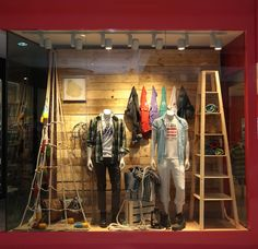Not so much the display as the back wall. I can do this for you with any rigid material of length-wood, metal, painted pvc conduit, cool-colored paperboard, ...?Retail Store Window Displays Izod-window-display-by-head- ...