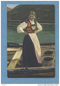 Solveig Lund, Norwegian Antique Postcard