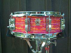 Ludwig snare drum in Mod Orange wrap