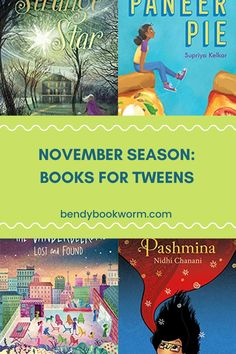 November Season: Books for Tweens. Looking for some books for your tweens? Click through to find out this list of books for the fall season! Bendy Bookworm Yoga