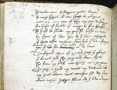 Sir Thomas Wyatt's handwriting