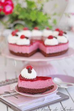 Dulce de Leche: Malinovo tvarohová torta Cheesecake, Food, Dulce De Leche, Sweets, Cheesecakes, Essen, Meals, Yemek, Cherry Cheesecake Shooters