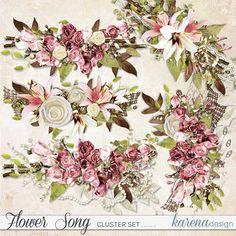 Digital Scrapbooking, Floral Wreath, Wreaths, Paper, Shop, Flowers, Collection, Design, Decor