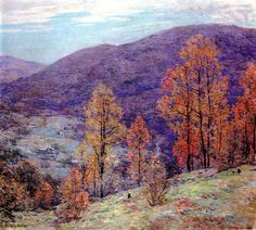 Willard Metcalf - Autumn Glory. Professional Artist is the foremost business magazine for visual artists. Visit ProfessionalArtistMag.com.- www.professionalartistmag.com.