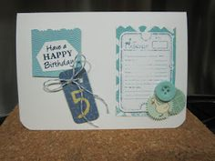 A Boy's birthday *card*