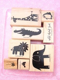 Stampin' Up Wild About You Used Rubber Stamp Set - Retired