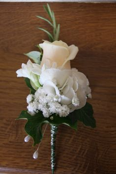 Champagne Roses, Ivory Hydrangeas, Paper Whites and Gypsophilia