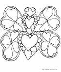 Free Valentine's Day Coloring Pages to Print and Color. Online Colouring Book. Printable Pages from KinderArt and KinderColor