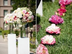 Wedding Ceremony Decoration Ideas with 50 Stunning Wedding Aisle Designs  Flowers on side, aisle runner in middle? Description from pinterest.com. I searched for this on bing.com/images