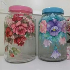 Shulamit - Art and Craft - Mosaic Art - Stained Glass Art - Home Decore Glass Bottle Crafts, Bottle Art, Mason Jar Crafts, Mason Jar Diy, Decoupage Jars, Inspiration Artistique, Painted Glass Vases, Glass Painting Designs, Stained Glass Art