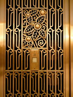 Art Deco Carbide and Carbon Building Grill, Chicago, Illinois by Daniel and Hubert Burnham Art Deco Illustration, Floral Illustrations, Art Deco Pattern, Pattern Design, Chicago Sculpture, Arte Art Deco, Art Nouveau, Dear World, Window Grill
