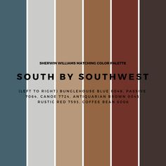 South By Southwest - the new true West. Desert style designed to reveal new hor. Modern Southwest Decor, Southwest Bedroom, Southwestern Home, Southwestern Decorating, Southwest Style, Rustic Color Schemes, House Color Schemes, Rustic Colors, House Colors