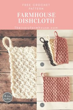 Learn how to crochet a dishcloth to suit your farmhouse style with this free cro. - Crochet and Knitting Patterns Learn how to crochet a dishcloth to suit your farmhouse style with this free cro. - Crochet and Knitting Patterns Crochet Diy, Love Crochet, Learn To Crochet, Scarf Crochet, Crochet Tutorials, Simple Crochet, Crochet Home, How To Crochet For Beginners, Things To Crochet