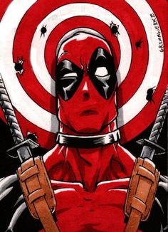 #Deadpool #Fan #Art. (Deadpool sketch card) By: Grimmwerkz. (THE * 5 * STÅR * ÅWARD * OF: * AW YEAH, IT'S MAJOR ÅWESOMENESS!!!™) [THANK U 4 PINNING!!!<·><]<©>ÅÅÅ+(OB4E)