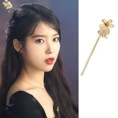 Feeling lavish and extravagant? Be like Jang Man Wol, the CEO of Hotel Del Luna, who loves fancy things just like this hair accessory. Get this latest item inspired from newest Korean Drama Hotel Del Luna to complete your posh look! Korean Accessories, Vintage Hair Accessories, Cute Jewelry, Hair Jewelry, Jewellery, Iu Hair, Curly Hair, Soft Summer Makeup, Luna Fashion