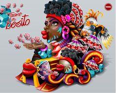 Vuela con #EasyFly al #CarnavalDeBarranquilla aquí www.easyfly.com.co/Vuelos/Tiquetes/vuelos-desde-barranquilla Lowbrow Art, Vector Design, Snow White, Disney Characters, Fictional Characters, Banner, History, Disney Princess, Illustration